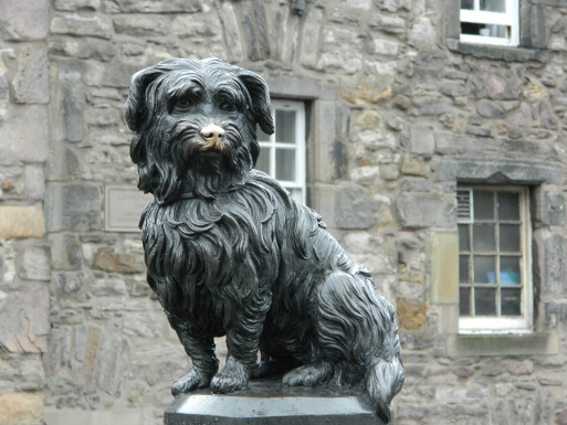 Statue of Greyfriars Bobby the Skye Terrier in Edinburgh